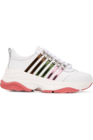 Dsquared2 Multi-striped low-top chunky trainers