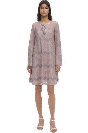 M MISSONI Zig Zag Lurex Knit Mini Dress