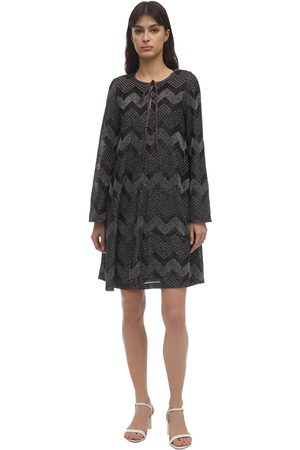 M MISSONI Zig Zag Lurex Knit Mini Dress
