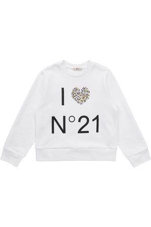 N°21 Logo Print Cotton Sweatshirt