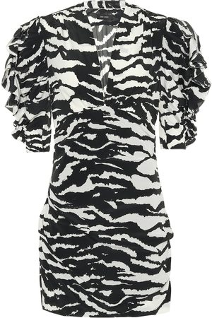 Isabel Marant Farah stretch-silk minidress