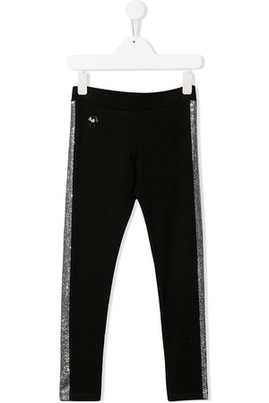 Philipp Plein Rhinestone stripe leggings