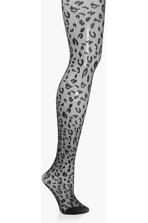 Boohoo Leopard Jacquard Tights