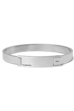 Le Gramme Heren Armbanden - Assemblage Le 21 Brushed And Sterling Bracelet