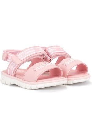 Dolce & Gabbana Kids Meisjes Sandalen - Touch-strap logo sandals
