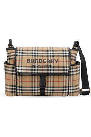 Burberry Tassen - Logo-print checked baby changing bag