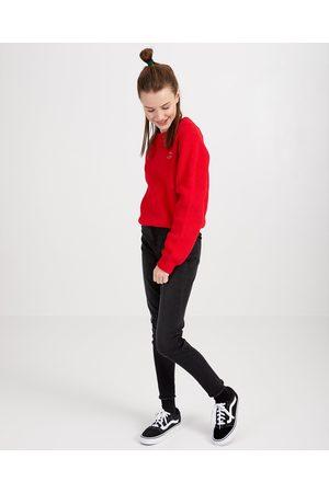 Groggy Rode trui met opschrift van fijne brei