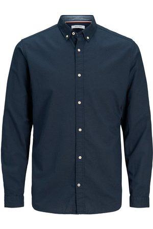 Jack & Jones Button-down Linnen Overhemd Heren Blauw