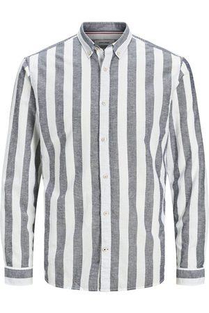 Jack & Jones Button-down Gestreept Overhemd Heren Blauw