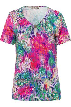 Uta Raasch Shirt korte mouwen en bloemenprint multicolour