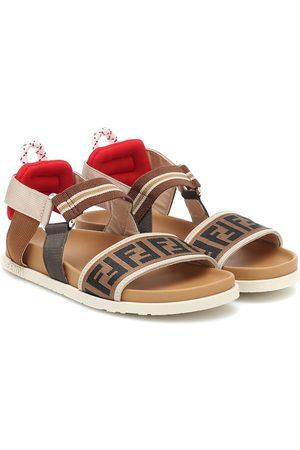 Fendi Meisjes Schoenen - Logo leather-trimmed sandals