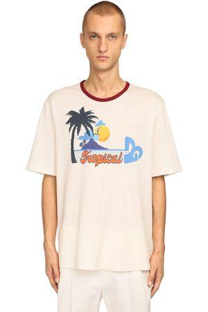 Dolce & Gabbana Dg Tropical Print Cotton Jersey T-shirt