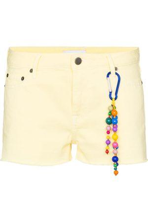 MIRA MIKATI Cut off cotton denim shorts