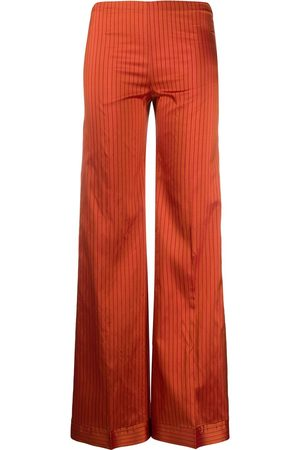 ROMEO GIGLI Silk striped wide-legged trousers