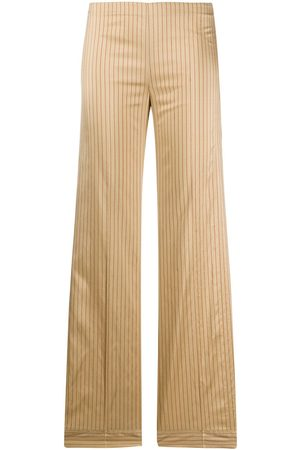 ROMEO GIGLI 1990s striped wide-legged trousers