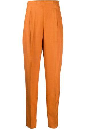 ROMEO GIGLI 1990s silk pleated high-rise trousers