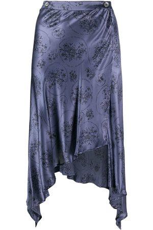ROMEO GIGLI 1990s floral handkerchief skirt