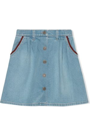 Gucci Interlocking G denim skirt