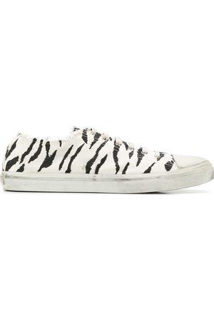 Saint Laurent Zebra print distressed detail sneakers