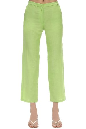MARYAM NASSIR ZADEH Cape Silk & Linen Pants