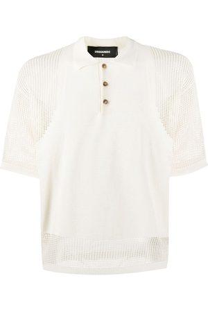 Dsquared2 Heren Poloshirts - Mesh-insert short sleeved polo shirt