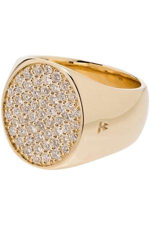 Tom Wood 9K yellow round diamond pinkie ring