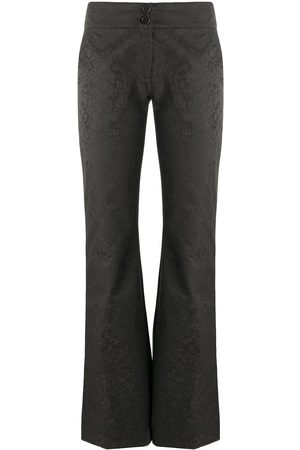 Romeo Gigli Pre-Owned 1990s floral jacquard trousers