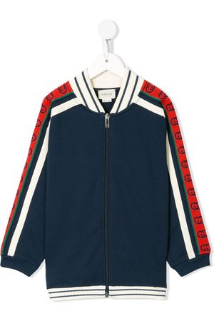 Gucci Kids Contrasting panelled zipped sweatshirt