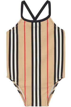BURBERRY Striped One Piece Swimsuit