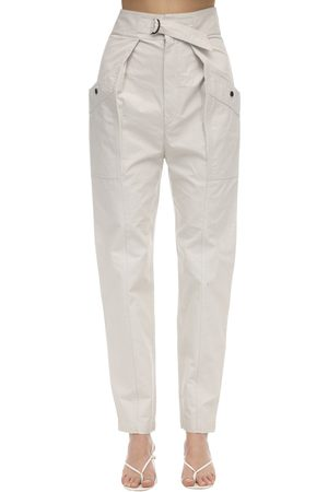 Isabel Marant Zilyae High Waist Canvas Cargo Pants