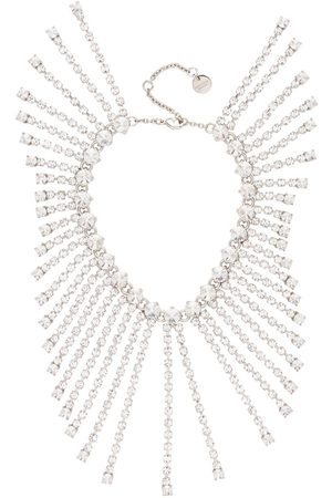 Miu Miu Crystal chain ankle bracelet