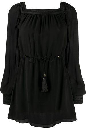 Saint Laurent Square neck mini dress