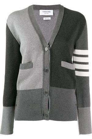Thom Browne Milano stitch V-neck cardigan