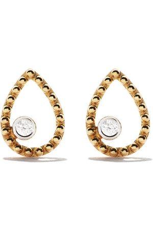 AS29 18kt yellow Mye pear beading diamond earrings
