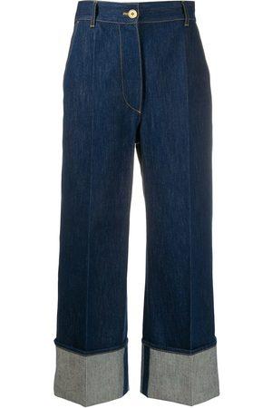 Patou High-rise cuffed jeans