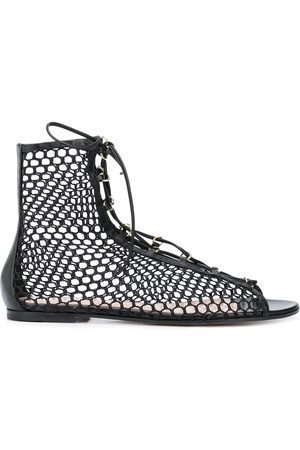 Gianvito Rossi Perforated lace-up sandals