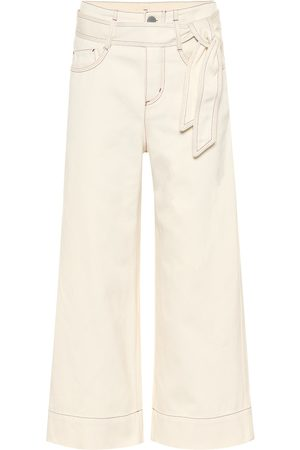 Loro Piana High-rise wide-leg cropped jeans