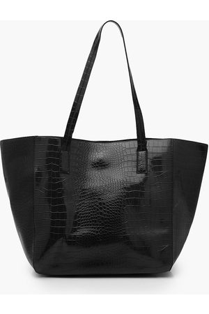 Boohoo Oversized Croc Day Bag