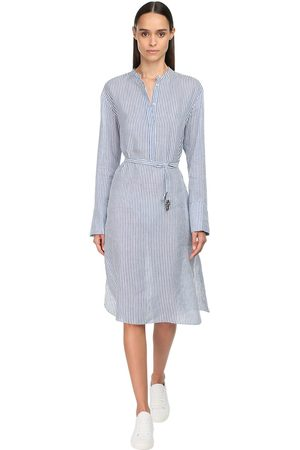 Max Mara Striped Linen & Silk Dress