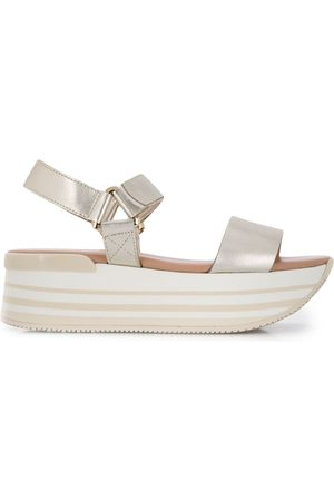 Hogan Dames Sandalen - Metallic platform sandals