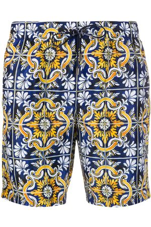 Dolce & Gabbana Mosaic printed swimming trunks