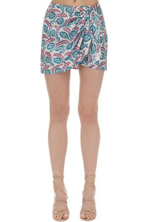 Isabel Marant Renzia Printed Silk Mini Skirt