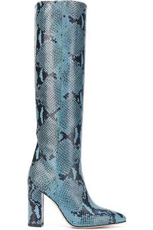 PARIS TEXAS Knee-length snake print boots