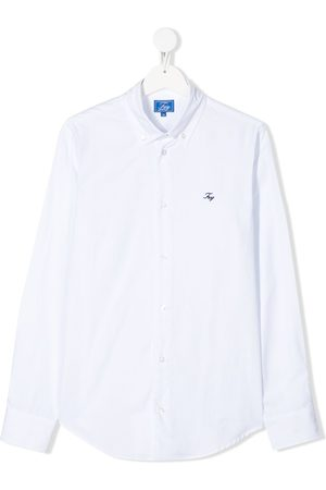 FAY KIDS Long sleeve embroidered logo shirt