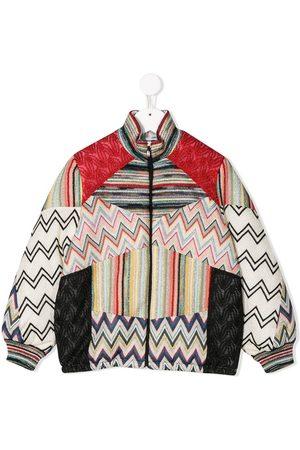 Missoni Knit detail bomber jacket