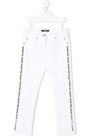 Balmain Straight fit side stripe jeans