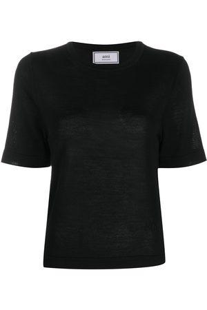 Ami Crew neck short sleeve jumper