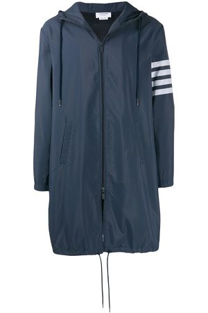 Thom Browne 4-Bar Ripstop Navy Long Hooded Parka