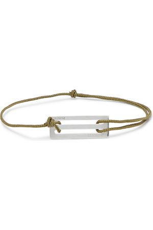 Le Gramme Le 20/10 Cord And Sterling Silver Bracelet