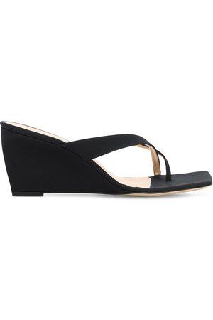 By Far 70mm Theresa Grosgrain Thong Sandals